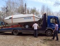 Эвакуация лодки