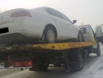 Эвакуация легкового автомобиля